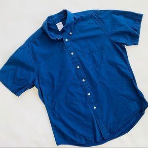 Brooks Brothers Navy Blue Short Sleeve Shirt L